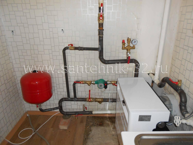 Фото схемы индивидуального отопления