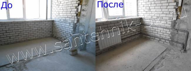 Перенос радиаторов отопления на лоджии, балконы в брянске - .